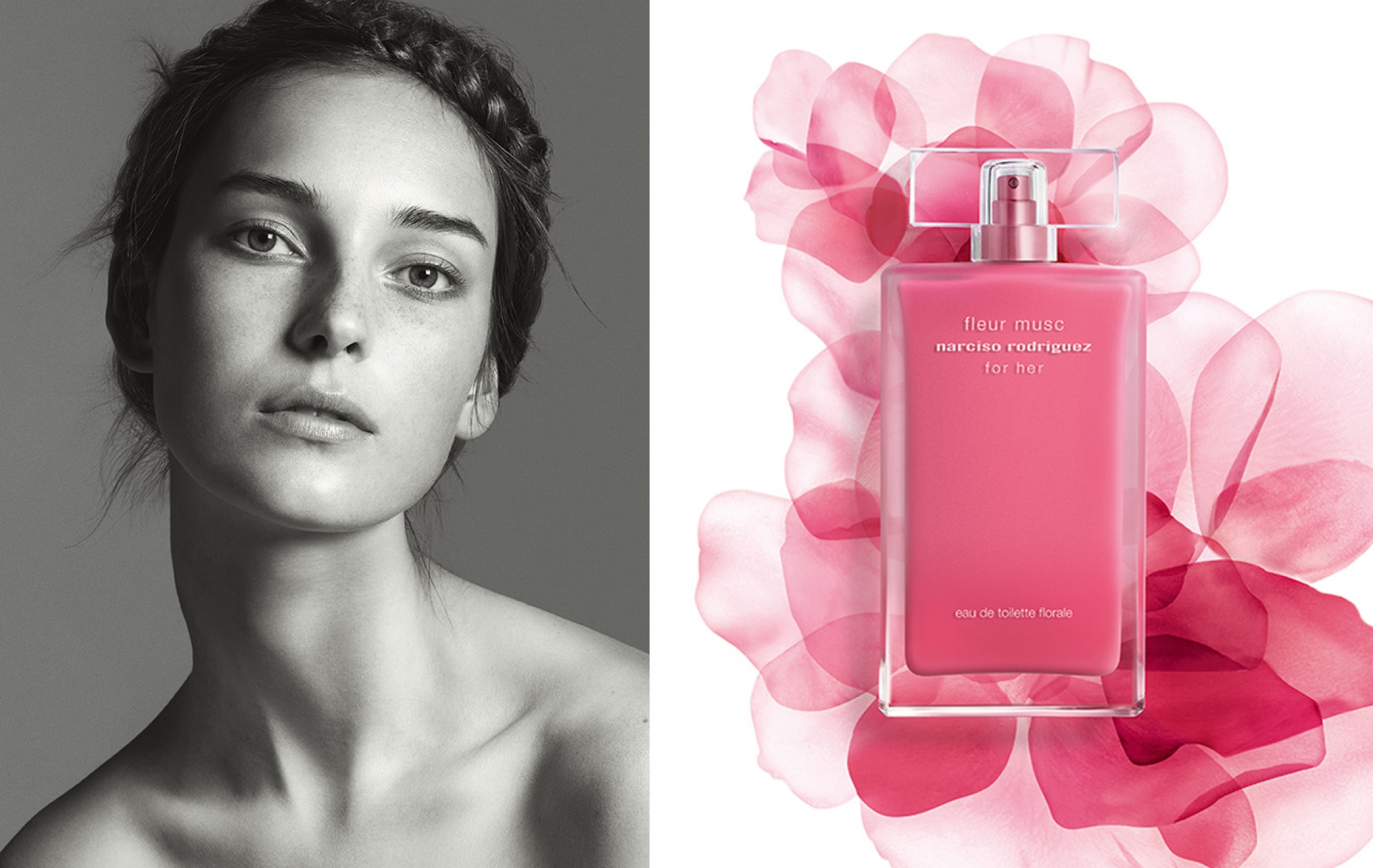 Julia for the new fleur musc florale by Narciso Rodriguez