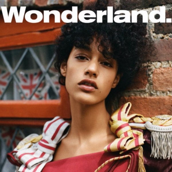 Damaris on the cover of Wonderland Autumn Fashion Issue