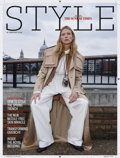 Annely on the cover of The Sunday Times Style Magazine