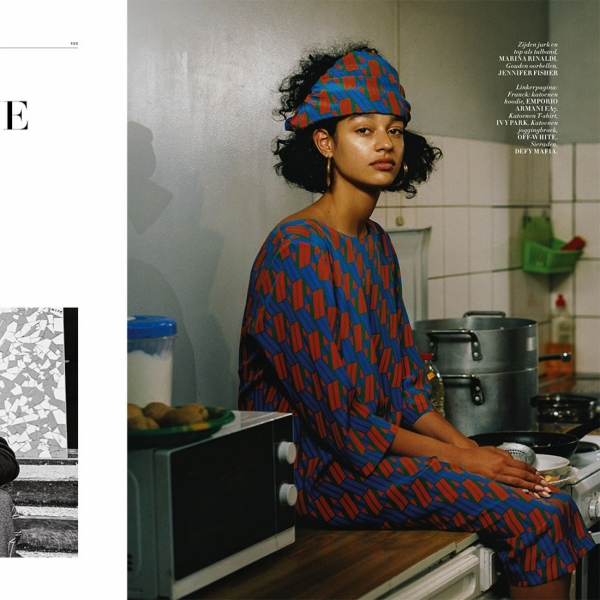L'Amour en banlieue with Damaris for L'Officiel
