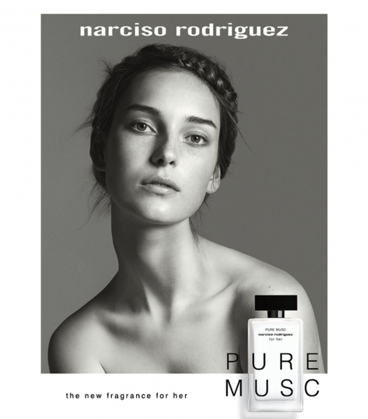 Julia Bergshoeff is the new muse of Narciso Rodriguez Pure Musc