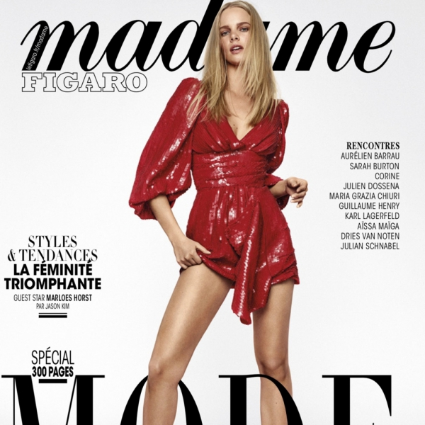 Marloes on the cover of Madame Figaro