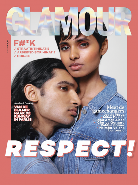 Daanisj and his love in a beautiful coverstory for Glamour NL