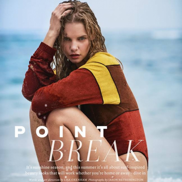 Point Break starring Marloes Horst for Marie Claire UK