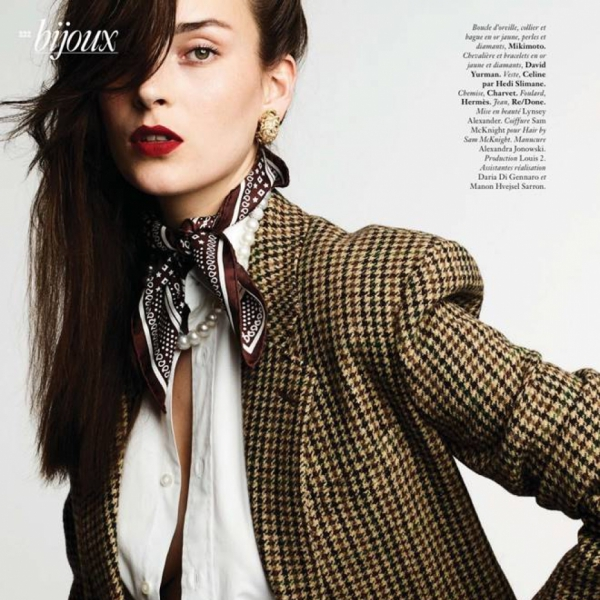 Julia Bergshoeff for Vogue Paris Bijoux September Issue