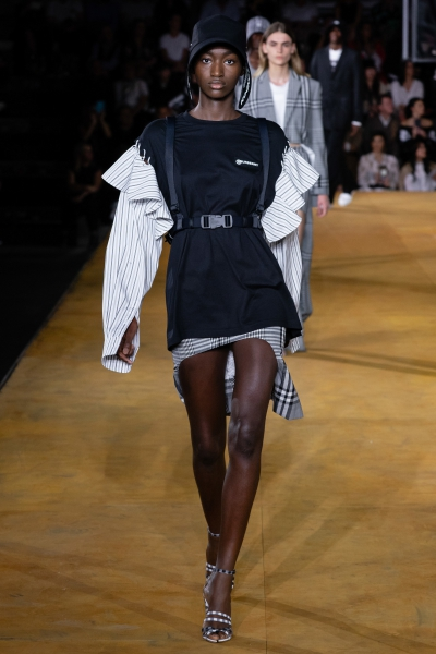 Marie-Ange debuting for Burberry ss20 London