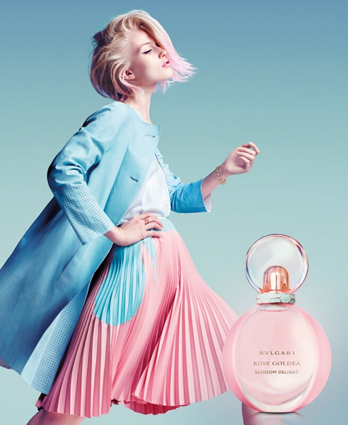 Olivka for the new Bvlgari fragrance campaign