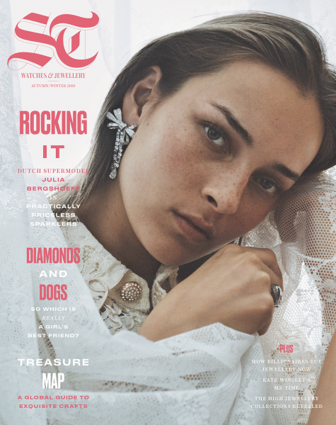 Julia Bergshoeff on the cover of The Telegraph Luxury