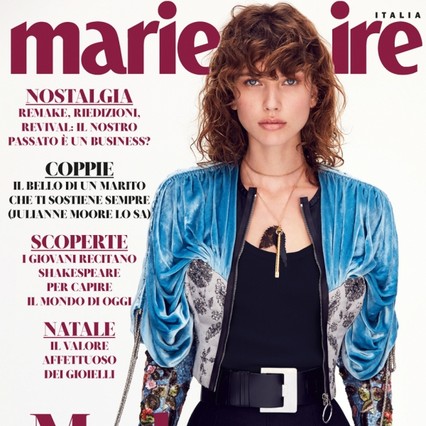Gigi on the cover of Marie Clarie Italia
