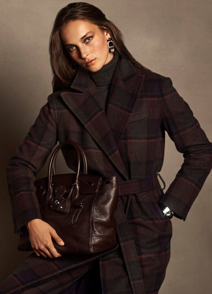 Julia Bergshoeff for Ralph Lauren Holiday Campaign
