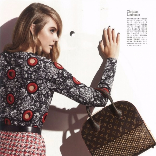 Lisanne de Jong in Vogue Japan Louis Vuitton special