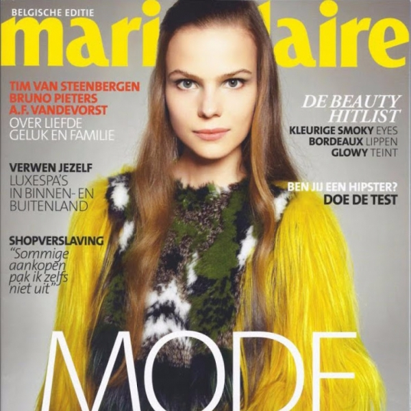 Charlotte on the cover of Marie Claire Belgium