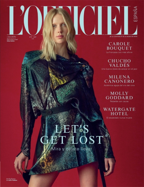 Annely on the cover of L'officiel spain