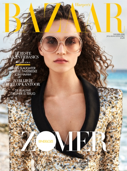 Summer Godess Valentine on the cover of Harper's Bazaar NL